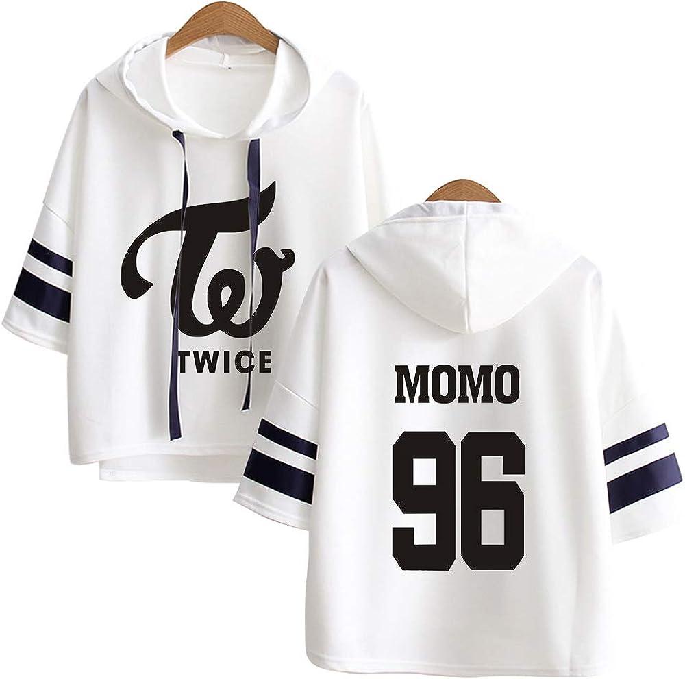Kpop Twice Sweat-Shirts /à Capuche L/âche Impression Pullover Chemise /à Manche 3//4 Hip Hop Pull D/écontract/é Sweats Manteau Tops NA YEON Jung YEON Momo Sana JI Hyo Mina DAHYUN CHAE Young TZUYU