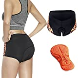Twotwowin Women's Padded Bicycle Cycling Underwear Shorts Breathable Bike Shorts