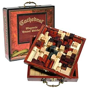 Cathedral Wood Portable Travel Strategy Board Game