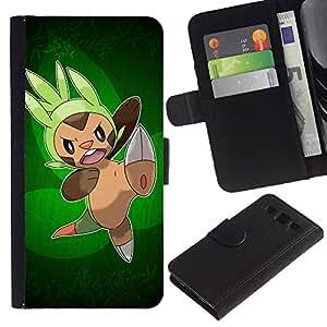 """A-type (Ataque Pokemn"""") Colorida Impresión Funda Cuero Monedero Caja Bolsa Cubierta Caja Piel Card Slots Para Samsung Galaxy S3 III i9300 i747"""