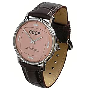 CCCP 2409.C196313 - Reloj analógico de caballero manual con correa de piel marrón
