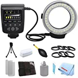 Professional Macro Ring Flash & LED Light For T2i, T3, T3i, T4i, T5, T5i, SL1, 10D, 20D, 30D + A Dust Blower with a Complete Starter Kit
