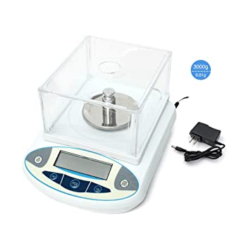 00cafd4957da HomEnjoy 3000g x 0.01g Digital Lab Analytical Balances Scale Precision  Balances 110V or DC9V Battery
