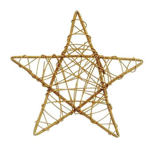 Estrela Rattan Decoração Natal 25Cm Dourado