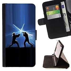 Momo Phone Case / Flip Funda de Cuero Case Cover - Lucha Jedi;;;;;;;; - HTC Desire 626