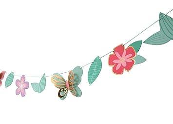 Amazon.com: Mariposa Jardín – Guirnalda de cumpleaños, baby ...