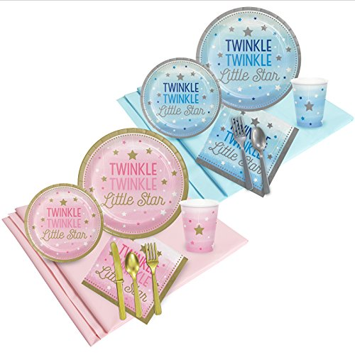 BirthdayExpress Twinkle Twinkle Little Star Baby Shower Gender Reveal Party Pack (16 Guest)]()
