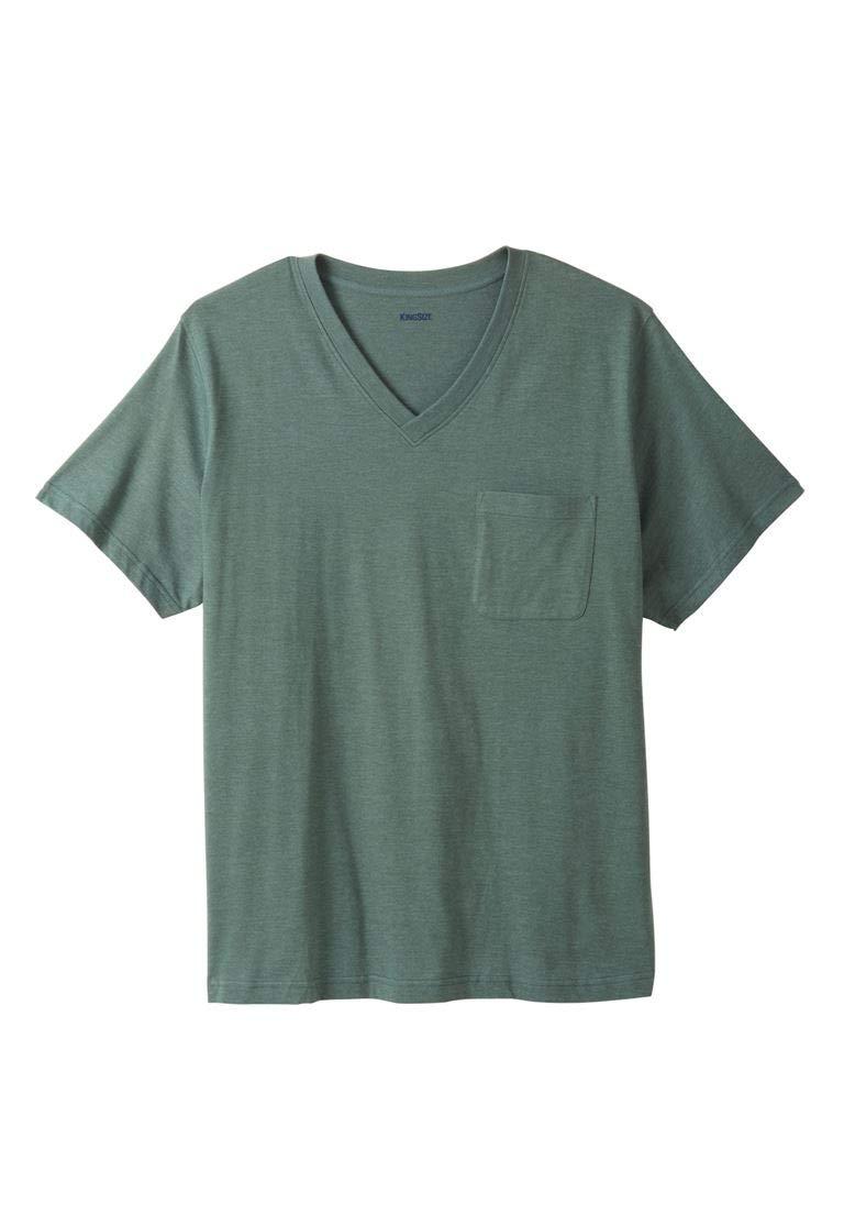 KingSize Men's Big & Tall Shrink-Less Lightweight Cotton V-Neck Pocket Tee, by KingSize (Image #1)