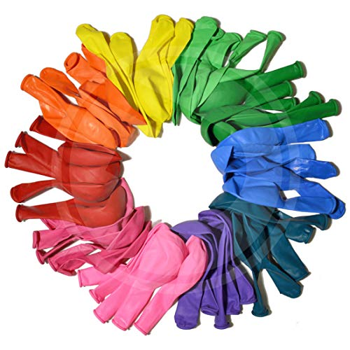 Funny Papi Party Balloons 12 Inches Rainbow Set 110 Pcs Assorted Colored Balloons Bulk Made Strong Latex Helium or Air Use 11 Colors Birthday Parties Balloon