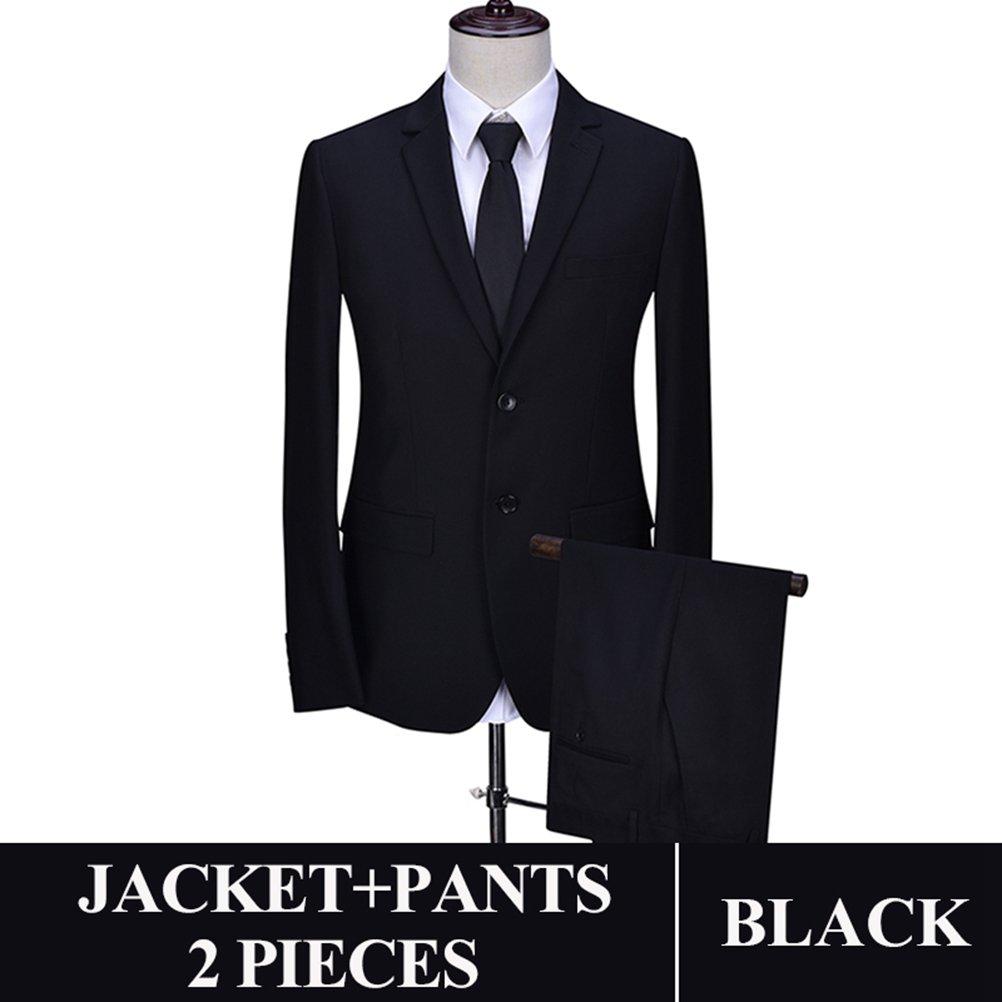 577Loby Men Business Suit Slim Fit Classic Male Suits Blazers Suit Two Buttons 2 Pieces(Suit Jacket+Pants) by 577Loby (Image #1)