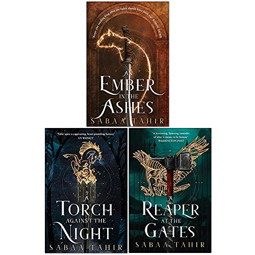 Sabaa Tahir Ember Quartet Series 3 Books Set (An Ember In The Ashes, A Torch Against The Night & A Reaper At The Gates)