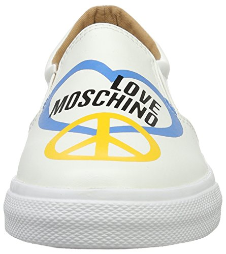 Älskar Moschino Kvinnor Vita Slip-on Mode Gymnastikskor