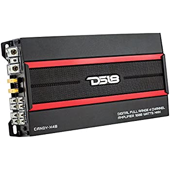 DS18 CANDY-X4B Black 1600 Watts Max Digital 4 Channel Class D Amplifier