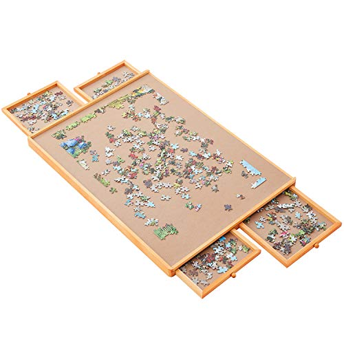 "Standard Size: 29""×21"" for Maximum 1000 Pieces Puzzles, Puzzle Board, Puzzle Table, Puzzle Tables for Adults, Puzzle Boards and Storage, Jigsaw Puzzle Table, Puzzle Tray, Weight: 1.6 LBS (4 KGS)"