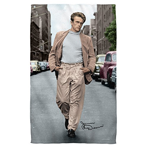 James Dean Colorful Walk Bath Towel White 27X52