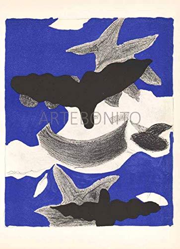Braque Lithograph - Artebonito Braque Lithograph V31-L03 Carnet intimes - Verve 1955