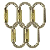 Fusion Climb Ovatti Steel Auto Lock Oval-shaped Carabiner 5-Pack