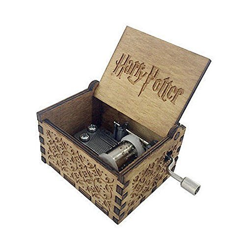Harry Potter China - Phoenix Appeal Antique Carved Wooden Music box Hand cranked Music: Game of thrones, Harry Potter, Merry Christmas Theme Gift (Harry Potter theme, Wood)