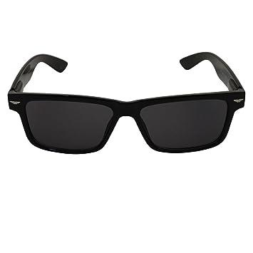 Schmale schwarze Sonnenbrille, innen rot