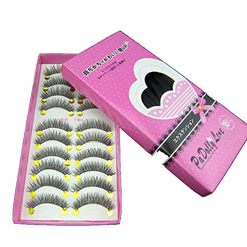 New Japanese Style Black 10 Pairs Asia Eyelashes Clearance sale (10 Pairs, Black)