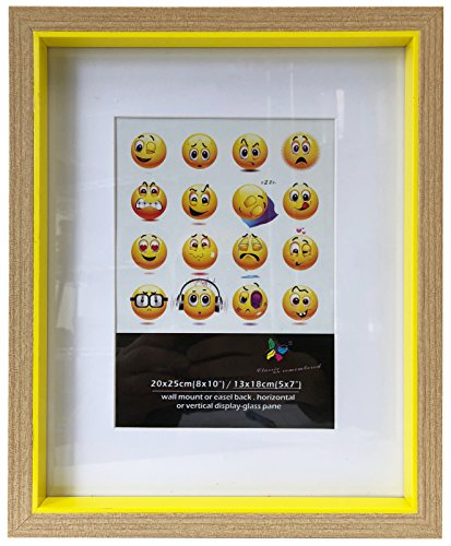 """Wee's Beyond PFP86572-Yellow Mdf Picture Frame 8""""x10"""" Matted"""