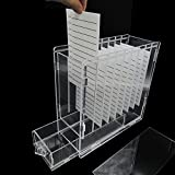 Eyelash Extension Organizer Box With 8 Pieces Acrylic Adhesive Glue Pallet and 1 Drawer Holder Storage For Lash Extension Display Case