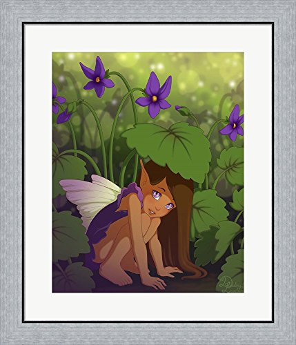 Shy Violet - Shy Violet by Dalliann Framed Art Print Wall Picture, Flat Silver Frame, 24 x 28 inches