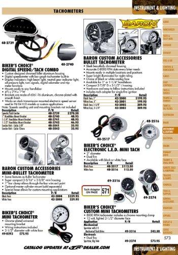 Bikers Choice Electronic Custom Mini Tachometer Biker/'s Choice 49-3374 tr-493374