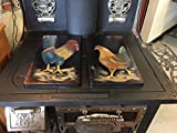 Farmhouse Rooster and Hen Stove Burner Cover Set