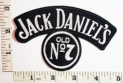 [Jack Daniels Whiskey Drink Band Patch Symbol Jacket T-shirt Patch Sew Iron on Embroidered Sign Badge] (Log Costume)