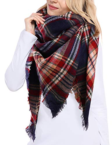 Bess Bridal Women's Plaid Blanke...