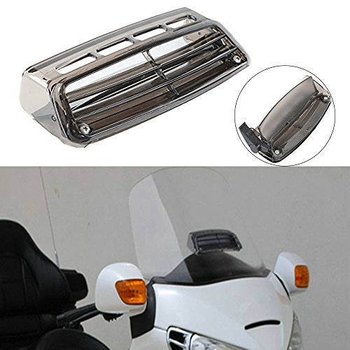 Air Flow Windshield Windscreen - XMT-MOTO Motor Windscreen Air Flow Vent Smoked For Honda Goldwing GL1800 2004-2016