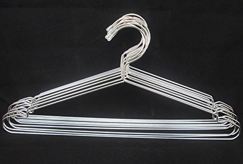 Heavy Silver Filter Hose (EUTTEUM 4PCS Solid Stainless Steel Heavy Duty Clothes Laundry Hangers 17.7 inches)