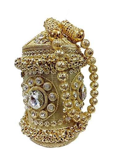 Ethnic Bag,Bridal bag,party bag, partyclutch,clutches for women,Handmade metal bag, Handbag purse Hand clutch Crystal Clutch women party clutch, ()
