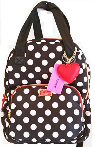 Betsey Johnson 2 in 1 Multifunctional Back Pack (Polka Dot)