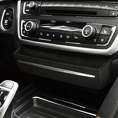 4,5 cm Multifunktionsteile Passend for BMW 3er F30 3er GT F34 2013-2017 Auto Aufbewahrungsbox SMNHSRXH Console Box CD Pane Ablage Container Car Center ABS Schwarz 24