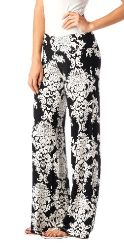 Popana Damask Palazzo Pants - Made In USA