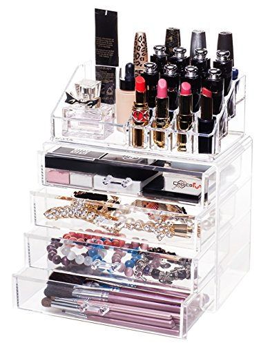 Choice Fun Clear Acrylic Storage Drawer Organizer, Set of 2