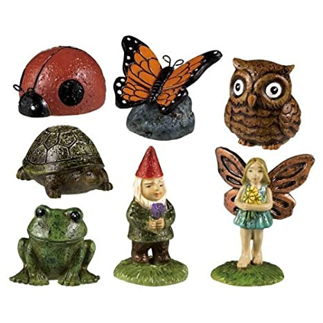 Miniature Fairy Garden Statues Doll House Mini Yard Figures Outdoor Decor