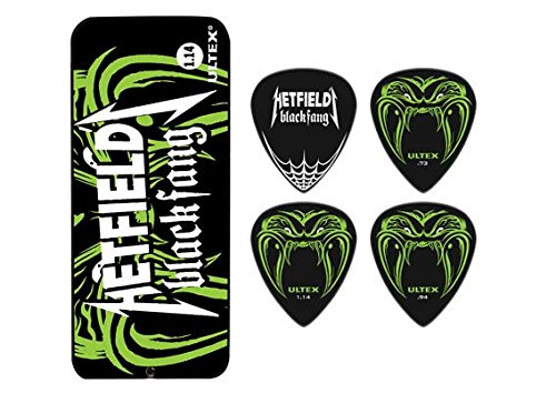 Dunlop PH112T1.14 Hetfield Black Fang, 1.14mm, 6 Picks/Tin - Black Guitar Pick