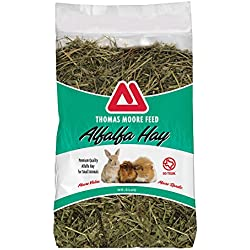TMF Premium Quality Alfalfa Hay/Feed For Rabbits, Hamsters, Guinea Pigs and Chinchillas 2lbs.