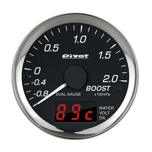 PIVOT (DPB-E) Dual Gauge Pro OBD Type Boost / Water Temp / Voltage /(Oil Temp) For EURO Cars