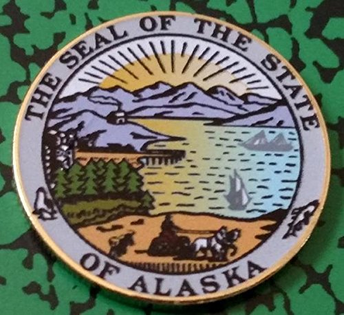 Alaska State Seal Colorized Challenge Art (Alaska Coin)