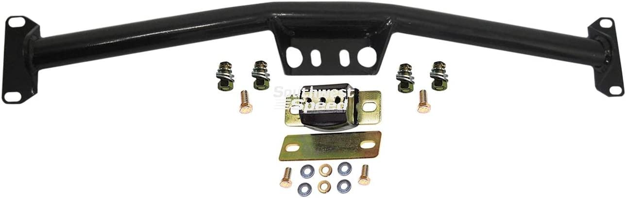TRIM-TO-FIT TRANSMISSION MOUNT WITH HARDWARE C10 C20 C30 C15 C25 C3 NEW SOUTHWEST SPEED TUBULAR TRANSMISSION CROSSMEMBER AND POLYURETHANE MOUNT FOR 1963-1972 CHEVY AND GMC TRUCKS WITH POWERGLIDE TURBO TH 350 SAGINAW MUNCIE 700R4 3 /& 4 SPEED TH 400