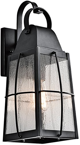 Kichler 49553BKT Tolerand Outdoor Wall 1-Light, Textured - Lighting Sconce Kichler Wall Exterior