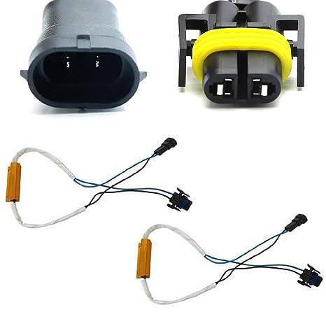 ijdmtoy Plug-n-play sin error decodificador Kit de cableado para H11 H8 bombillas