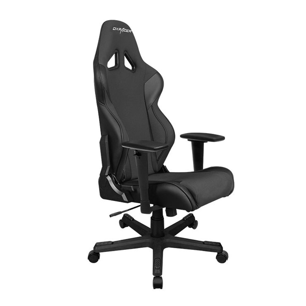 DXRacer Series DOH/RW106/N Newedge Edition Bucket Office Gaming Automotive Racing Seat Computer Esports Executive Chair Furniture with Pillows (Bl, Medium, Black