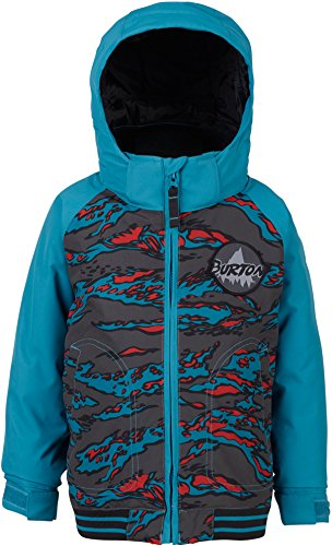 Burton Boys Minishred Game Day Jacket, Bitters Beast Camo/Mountaineer, - Bomber Burton