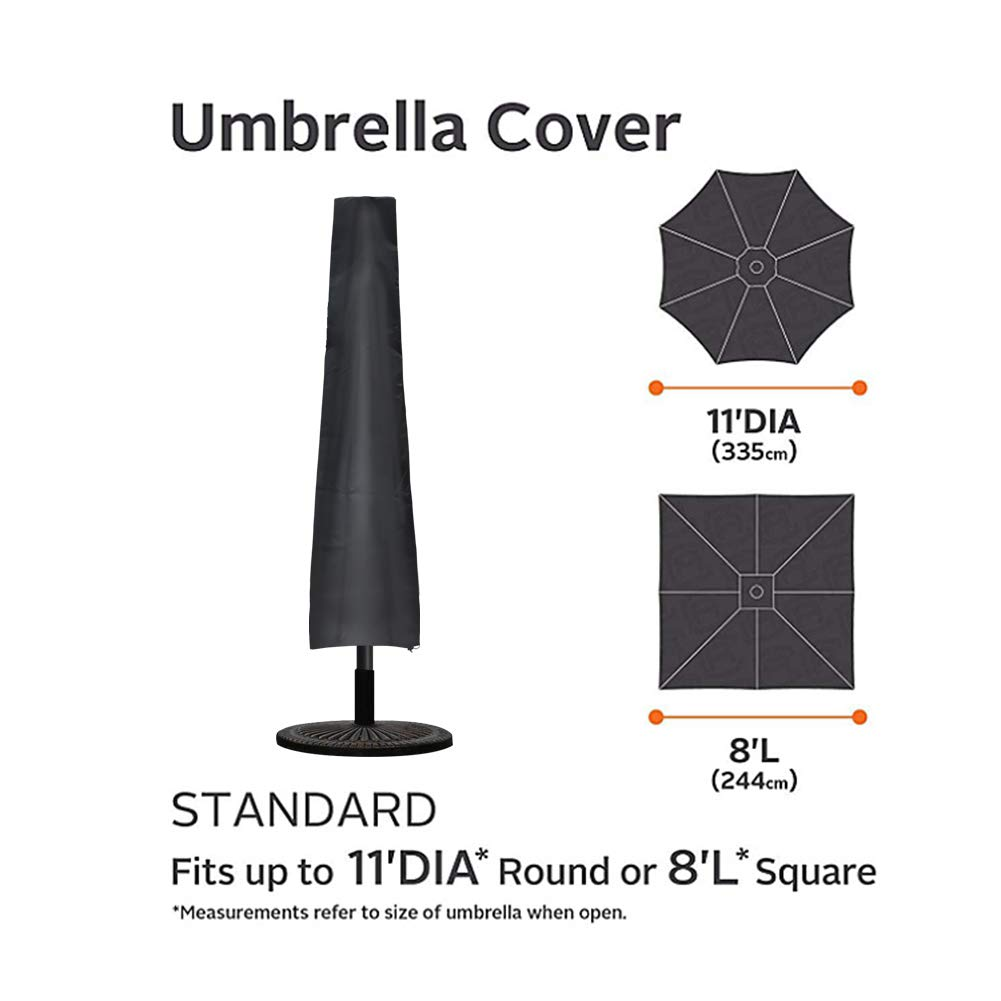 Umbrella Covers,Patio Waterproof Market Parasol Covers with Zipper for 7ft to 11ft Outdoor Umbrellas
