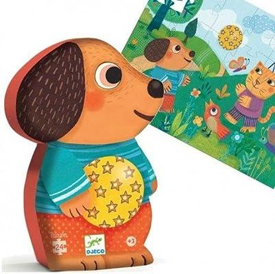 Djeco Puzzle infantil SILUETA Guau Guau 24 piezas grandes. Niños + ...